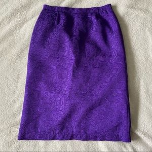 Collections Internationale Purple Pencil Skirt